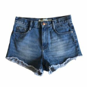Zara High Waist Cutoff Jean Shorts Sz 2